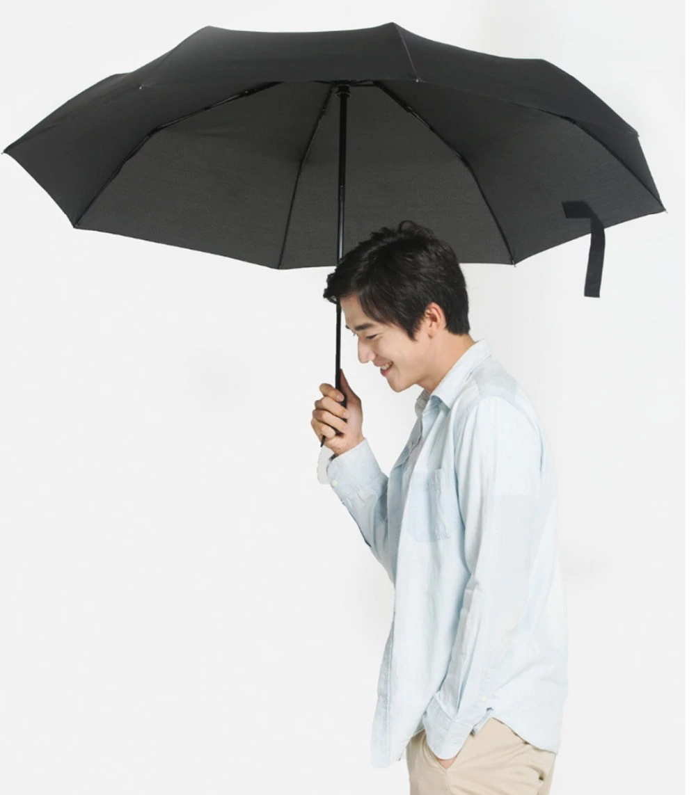 Зонт XiaoMi Mijia Huayang Super Large Automatic Umbrella Anti-UV Black