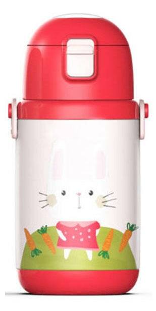 Термос детский XiaoMi Elf Bird Child Intelligent Insulation Cup (400ml), красный
