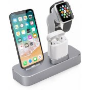 Док-станция COTEetCI для Apple Watch/iPhone/AirPods Base19 CS7201-GY Space Gray