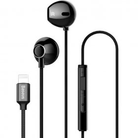 Наушники Baseus Digital Earphone P06 lightning, чёрные (NGP06-01)