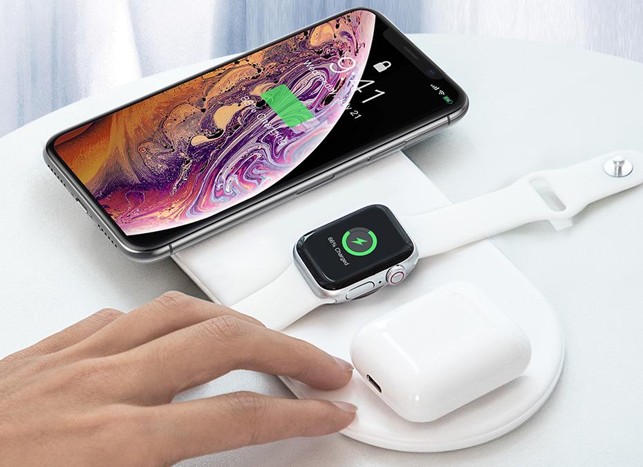 Беспроводное зарядное устройство Baseus Smart 3in1